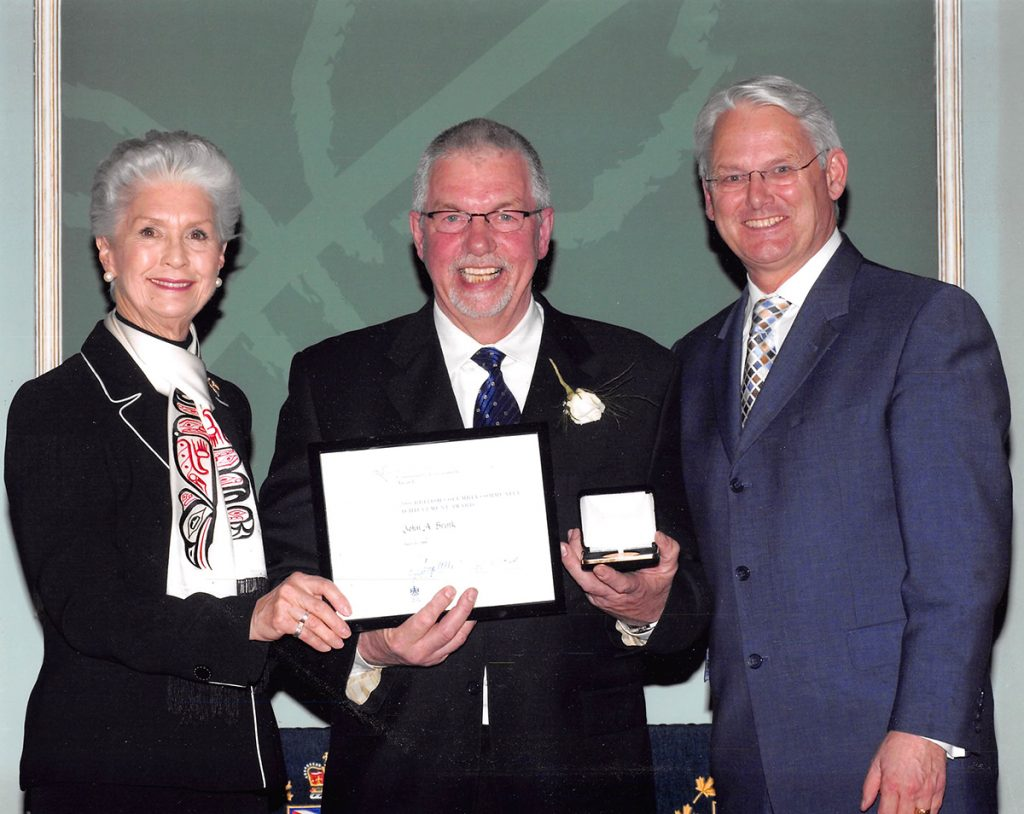 John Brink Receiving the BC Achievement Award